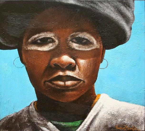 VELAPHI MZIMBA, NONI ACRYLIC ON CANVAS