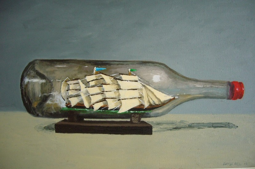 LUAN NEL, Bottle of Rush 2013, Oil on Canvas