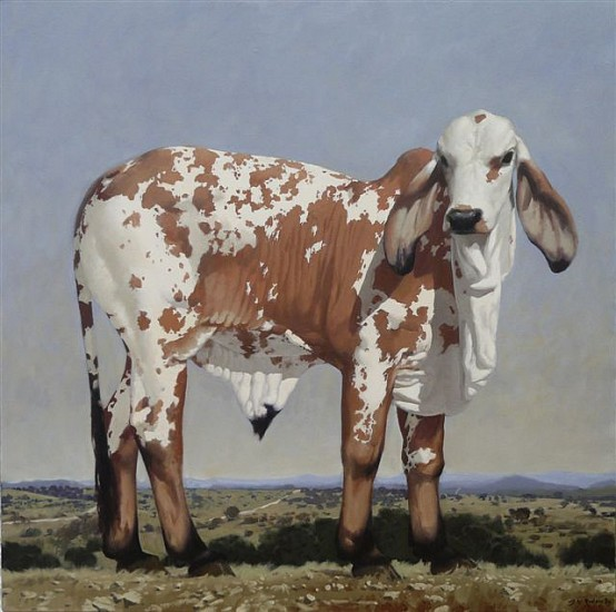 NEIL RODGER, INDU BRAZIL BULL CALF 2009, OIL ON CANVAS