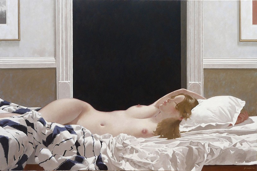 NEIL RODGER, INTERIOR WITH SLEEPING NUDE II 2009, OIL ON CANVAS