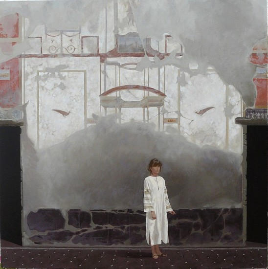 NEIL RODGER, MORAG IN THE ATRIUM 2010, OIL ON CANVAS