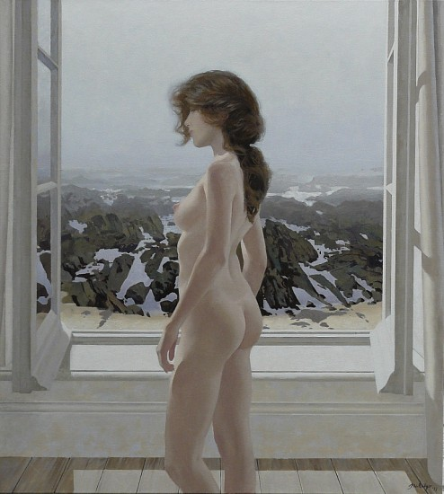 NEIL RODGER, NUDE AT SEAPOINT 2013, OIL ON CANVAS