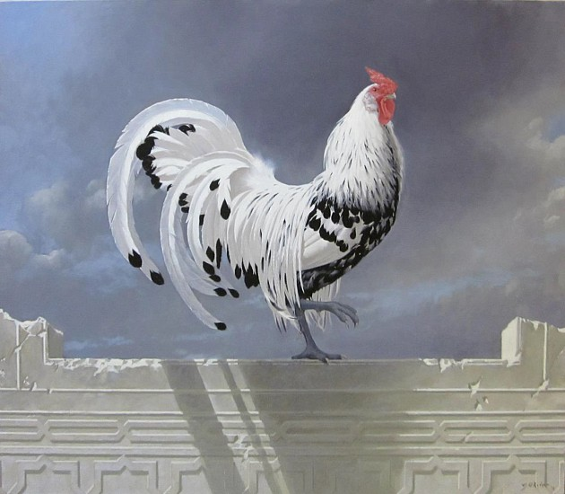 NEIL RODGER, HAMBURG ROOSTER OIL ON CANVAS