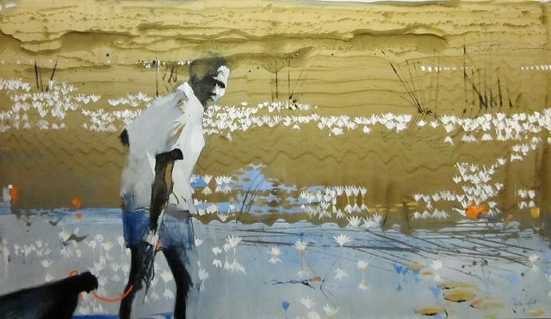 KEITH JOUBERT, LAGOON OIL ON CANVAS