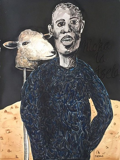 COLBERT MASHILE, Hloka-La-Tsela Charcoal, Ink and Pastel on Paper