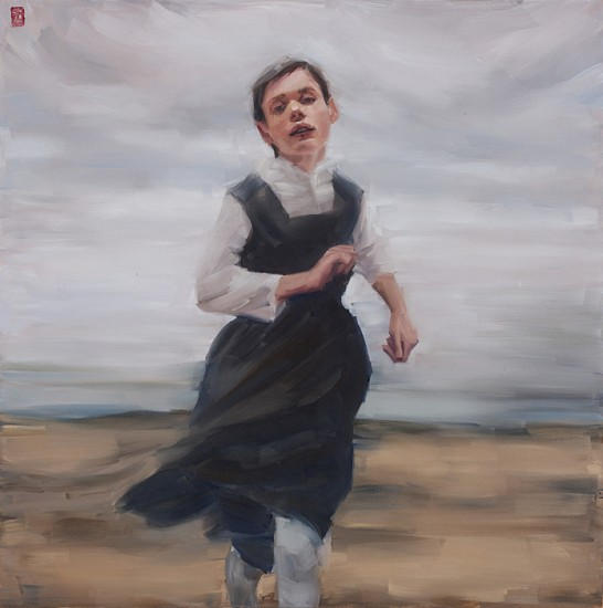 SASHA HARTSLIEF, Girl in Motion 2016, Oil on Canvas