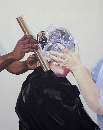 TANYA POOLE, Cling-Wrap 2012, Oil on Canvas