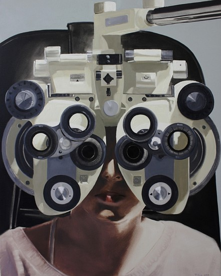 TANYA POOLE, Focus Machine (From the Becoming Girl Series) 2013, Oil on Canvas