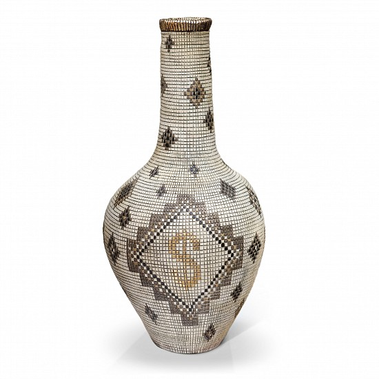 Lucinda Mudge Gold Dollar Signs Pixel Vase Collection 2017