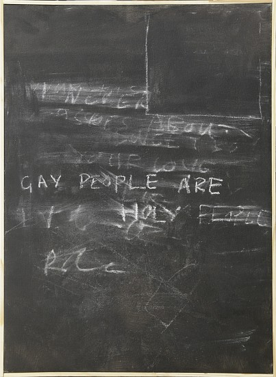 BRETT CHARLES SEILER, GAY PEOPLE ARE HOLY PEOPLE 2017, CHALK AND PAINT ON CANVAS