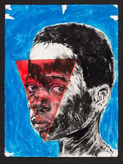 NELSON MAKAMO, UNTITLED 2017, Mixed Media on Paper