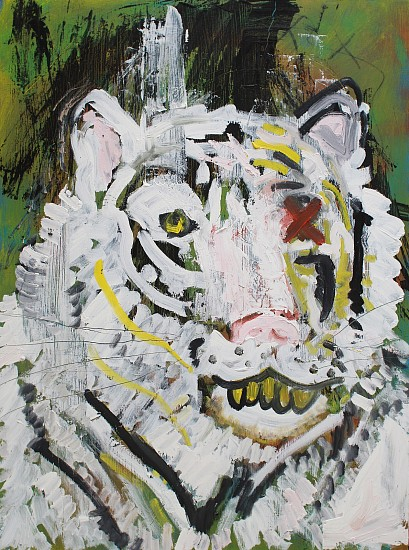 MICHAL KRUGER, TIGERS DON'T CRY 2018, Oil on Board