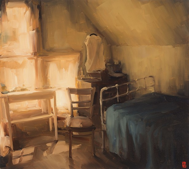 SASHA HARTSLIEF, ATTIC ROOM 2018, Oil on Canvas
