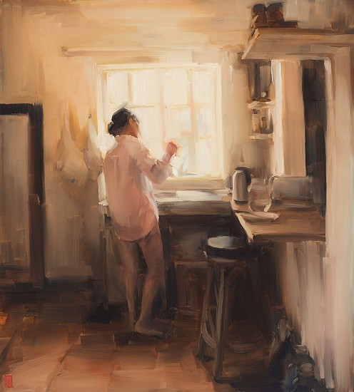 SASHA HARTSLIEF, THE LIGHT IN THE MORNING 2018, Oil on Canvas