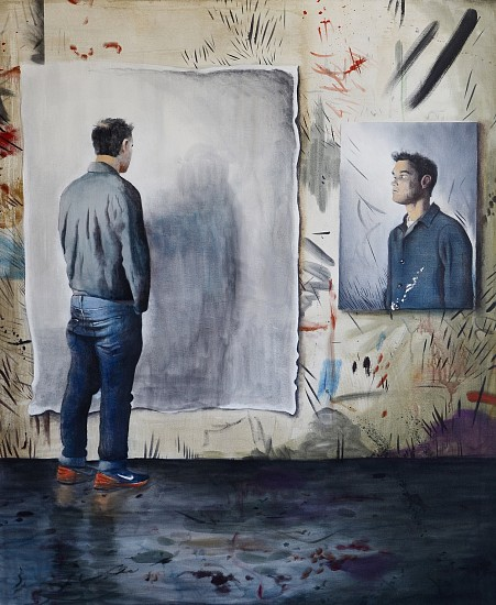 MATT HINDLEY, THE DIVIDED SELF 2018, Oil on Linen