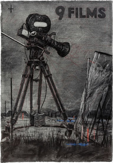 WILLIAM KENTRIDGE, 9 FILMS 2004, GRAPHITE & COLOURED PENCIL ON PAPER