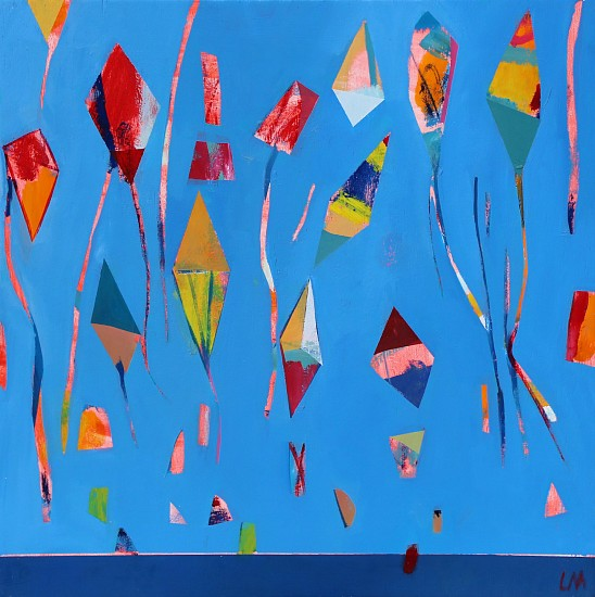 LOUISE MASON, KITES II 2018, OIL ON  BOARD