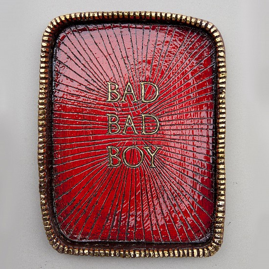 LUCINDA MUDGE, BAD BAD BOY 2019, CERAMIC, GOLD LUSTER