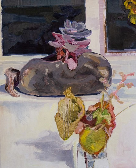 SWAIN HOOGERVORST, STUDIO STILL LIFE 2019, OIL ON PAPER