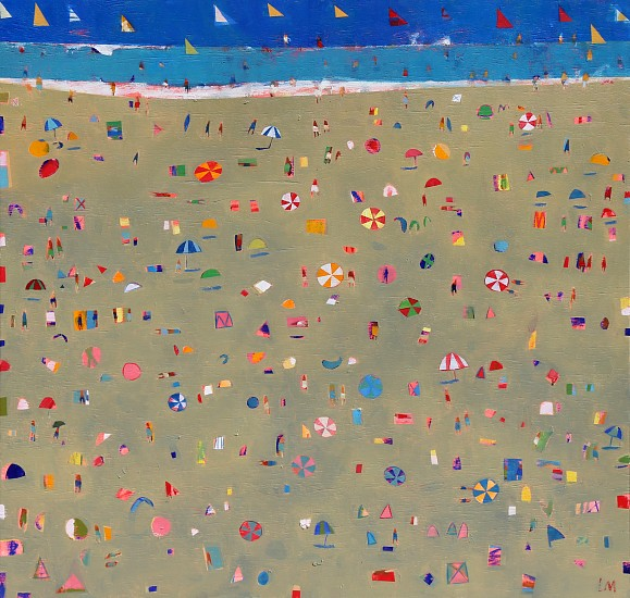 LOUISE MASON, BEACH RHYTHM 2 2019, Oil on Board