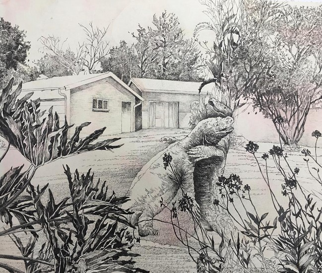 ANDREW KAYSER, THIS LAWN 1 2020, INK ON PAPER