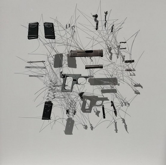 PAULA LOUW, PEACE SERIES-RECONSIDERED II GUN PARTS, MIXED MEDIA