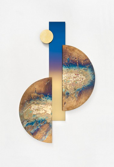 WARTHER DIXON, JHB E (MIRRORED LANDSCAPES) 2020, BRASS, TINTED MIRROR & BRASS ON GLASS