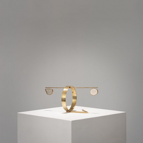 WARTHER DIXON, STASIS NO 10 2020, BRASS, SHELL AND GLASS