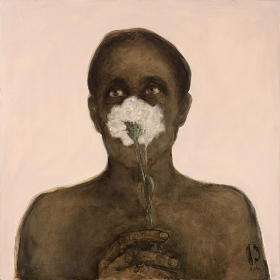 SHANY VAN DEN BERG, THIS IS NOT A MASK 2021, Oil on Board